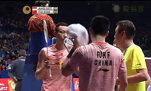 傅海峰/张楠VS阿山/塞蒂亚万 2015印尼公开赛 男双半决赛视频