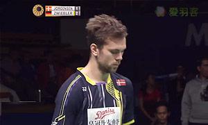 约根森VS茨维布勒 2015印尼公开赛 男单半决赛视频