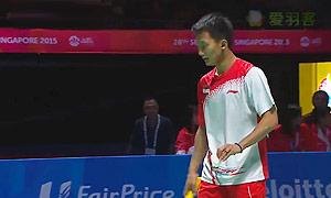 毛拉那VS苏庞余 2015东南亚运动会 男单决赛视频