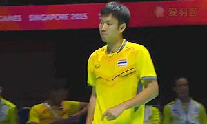 波萨那VS菲尔曼 2015东南亚运动会 男单决赛视频