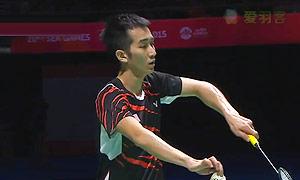 张维峰VS阿里夫 2015东南亚运动会 男单决赛视频