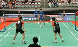 李俊慧/刘雨辰VS安德烈/古纳万 2015加拿大公开赛 男双半决赛视频