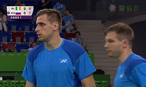 伊万诺夫/索松诺夫VS约书亚/山姆 2015欧运会 男双半决赛视频