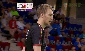 霍尔斯特VS杜马克 2015欧运会 男单半决赛视频