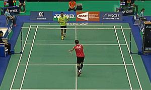 林丹VS李东根 2015台北公开赛 男单1/16决赛视频
