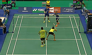 刘成/包宜鑫VS基多/皮娅 2015台北公开赛 混双1/8决赛视频