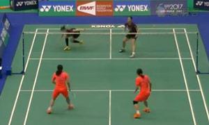 骆赢/骆羽VS张艺娜/郑景银 2015台北公开赛 女双1/4决赛视频