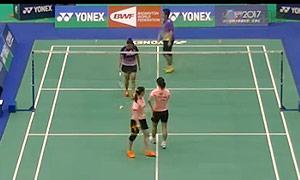 黄雅琼/马晋VS皮娅/瓦里拉 2015台北公开赛 女双1/4决赛视频