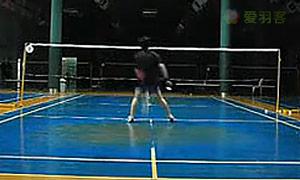 印尼羽毛球步法训练示范