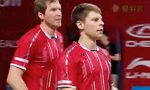 福克斯/舍特勒VS阿伦茨/马斯 2015羽毛球世锦赛 男双资格赛视频