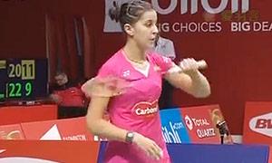 马琳VS郑清亿 2015羽毛球世锦赛 女单资格赛视频