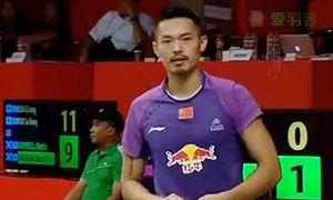 林丹VS帕约拉 2015羽毛球世锦赛 男单1/16决赛视频