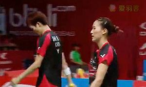爱德考克/加布里VS申白喆/张艺娜 2015羽毛球世锦赛 混双1/16决赛视频