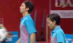 廖敏竣/陈晓欢VS陈润龙/谢影雪 2015羽毛球世锦赛 混双1/16决赛视频
