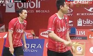 阿山/塞蒂亚万VS卡雷姆/拉巴尔 2015羽毛球世锦赛 男双1/16决赛视频