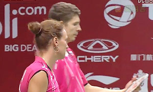 福克斯/迈克斯VS德雷明/迪莫娃 2015羽毛球世锦赛 混双资格赛视频