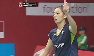 高桥沙也加VS贾奎特 2015羽毛球世锦赛 女单1/16决赛视频