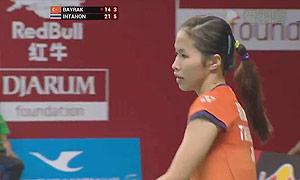 因达农VS拜拉克塔 2015羽毛球世锦赛 女单1/16决赛视频