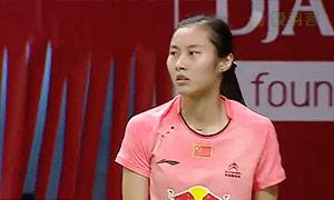 王仪涵VS裴延姝 2015羽毛球世锦赛 女单1/8决赛视频