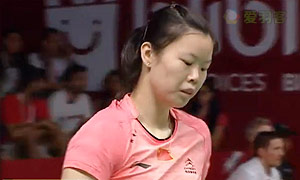 辛德胡VS李雪芮 2015羽毛球世锦赛 女单1/8决赛视频