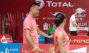 徐晨/马晋VS廖敏竣/陈晓欢 2015羽毛球世锦赛 混双1/8决赛视频