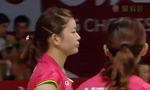艾米利亚/宋佩珠VS松友美佐纪/高桥礼华 2015羽毛球世锦赛 女双1/8决赛视频