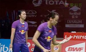 田卿/赵芸蕾VS王晓理/于洋 2015羽毛球世锦赛 女双1/4决赛视频