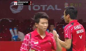 艾哈迈德/纳西尔VS高成炫/金荷娜 2015羽毛球世锦赛 混双1/4决赛视频