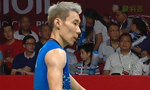 李宗伟VS约根森 2015羽毛球世锦赛 男单半决赛视频