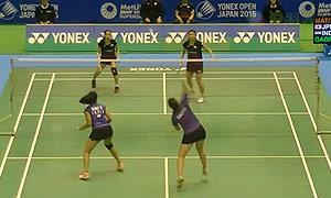 松友美佐纪/高桥礼华VS加德雷/瑞迪 2015日本公开赛 女双1/16决赛视频