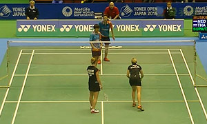 穆斯肯斯/皮克VS普缇塔/沙西丽 2015日本公开赛 女双1/16决赛视频