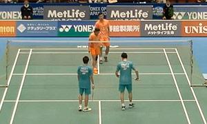 刘成/包宜鑫VS苏吉特/莎拉丽 2015日本公开赛 混双1/8决赛视频