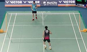 佐佐木翔VS乔纳坦 2015韩国公开赛 男单1/8决赛视频