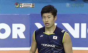 贾亚拉姆VS佐佐木翔 2015韩国公开赛 男单1/4决赛视频
