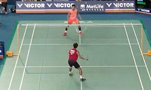 谌龙VS桃田贤斗 2015韩国公开赛 男单半决赛视频