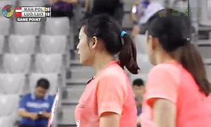 尼蒂娅/波莉VS骆赢/骆羽 2015韩国公开赛 女双半决赛视频