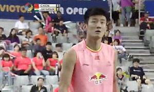 谌龙VS贾亚拉姆 2015韩国公开赛 男单决赛视频