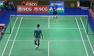 李炫一VS庞吉斯图 2015泰国公开赛 男单资格赛视频
