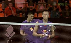 傅海峰/张楠VS索伦/尼古拉 2015丹麦公开赛 男双1/16决赛视频