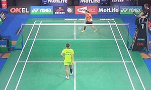 波尔森VS许雅晴 2015丹麦公开赛 女单1/16决赛 低视角视频