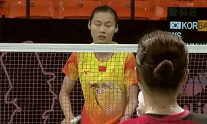 王仪涵VS裴延姝 2015丹麦公开赛 女单1/16决赛视频