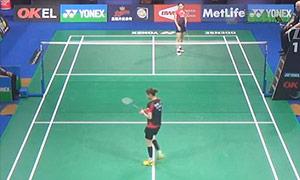 成池鉉VS高橋沙也加 2015丹麥公開賽 女單1/16決賽視頻
