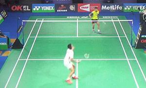 周天成VS田厚威 2015丹麦公开赛 男单1/8决赛视频