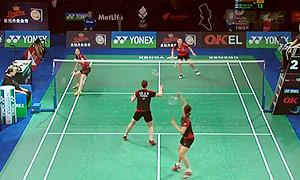 郑景银/申升瓒VS张艺娜/李绍希 2015丹麦公开赛 女双1/4决赛视频