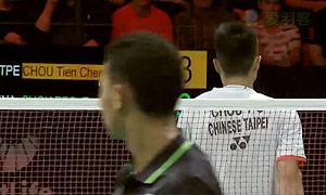 苏吉亚托VS周天成 2015丹麦公开赛 男单半决赛视频