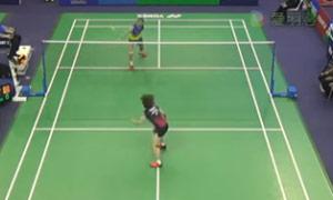 王仪涵VS桥本由衣 2015法国公开赛 女单1/16决赛视频