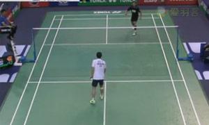 约根森VS胡赟 2015法国公开赛 男单1/16决赛视频