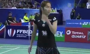 因达农VS内维尔 2015法国公开赛 女单1/4决赛视频
