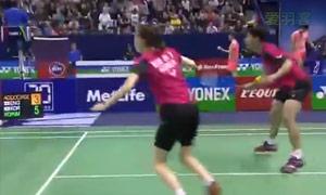 高成炫/金荷娜VS爱德考克/加布里 2015法国公开赛 混双半决赛视频