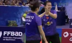 黄雅琼/汤金华VS骆赢/骆羽 2015法国公开赛 女双决赛视频